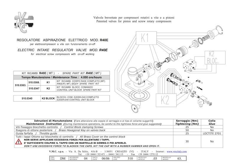 unloader R40 kit-compressorkar