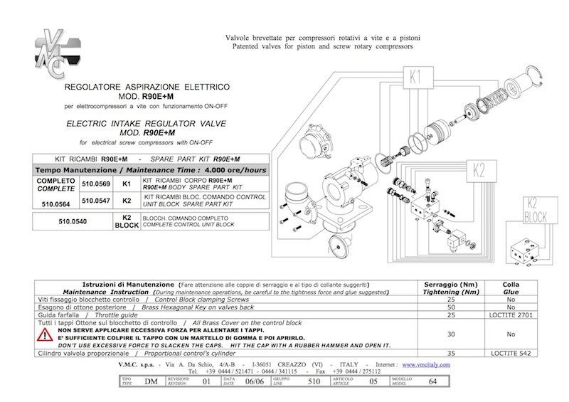 unloader R90E kit-compressorkar