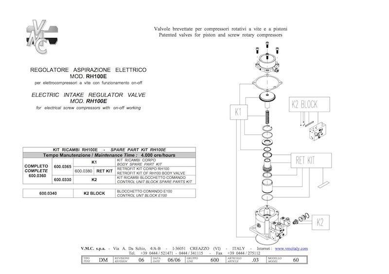 unloader RH100E kit-compressorkar