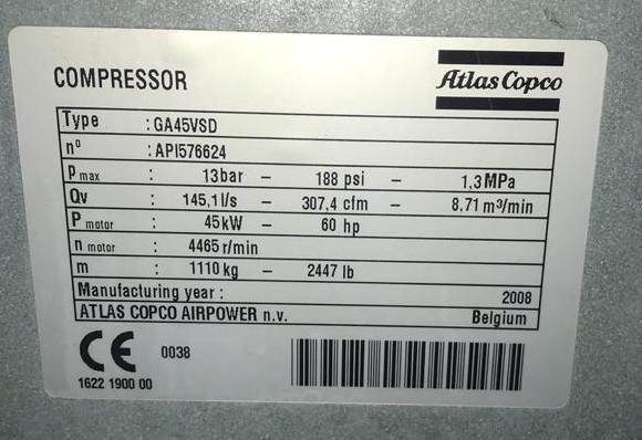 GA45VSD -compressorkar1